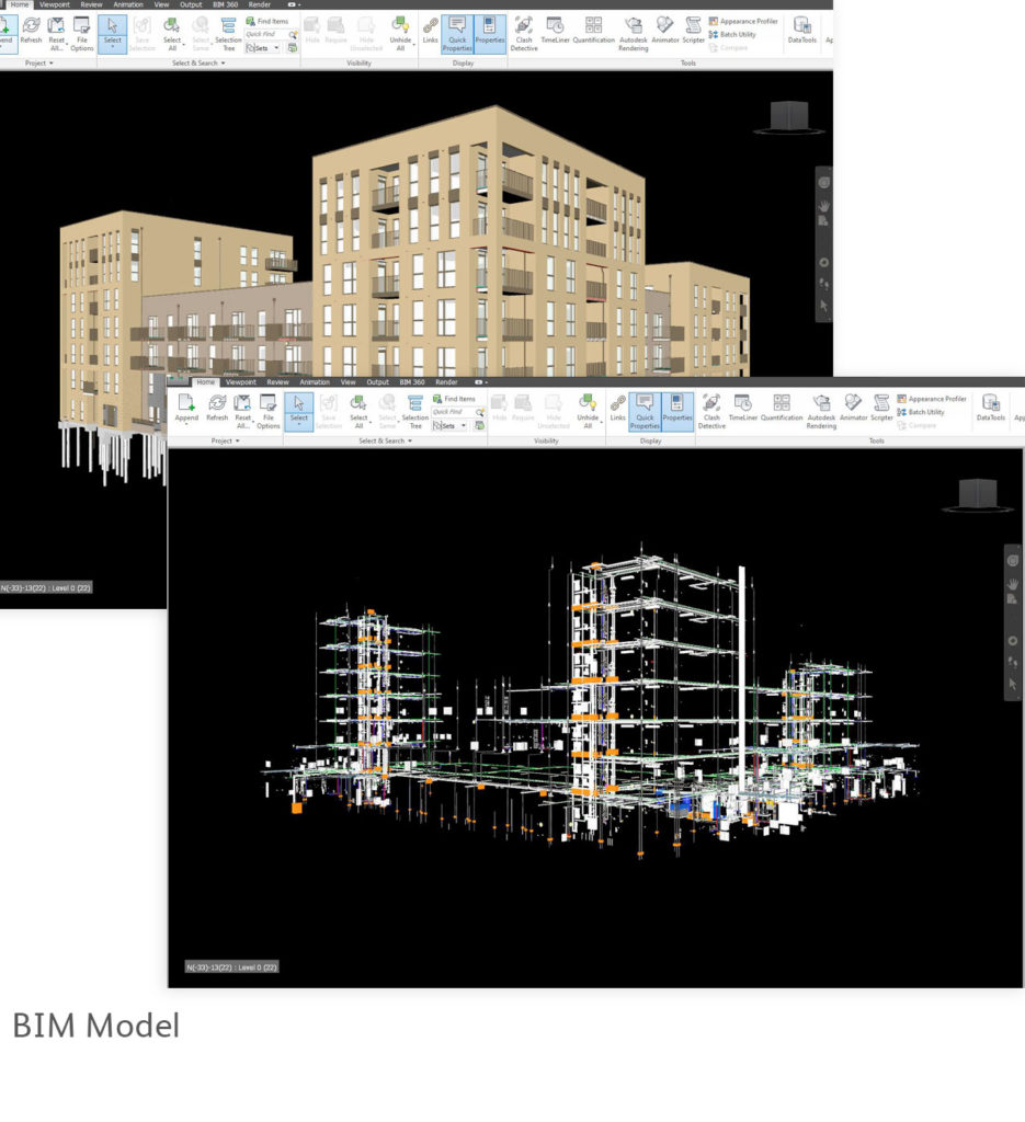 Park East new build housing BIM Federated Model