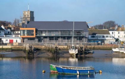 The Sussex Yacht Club - an architecturally iconic facility with a fabric first approach designed with flood resilience