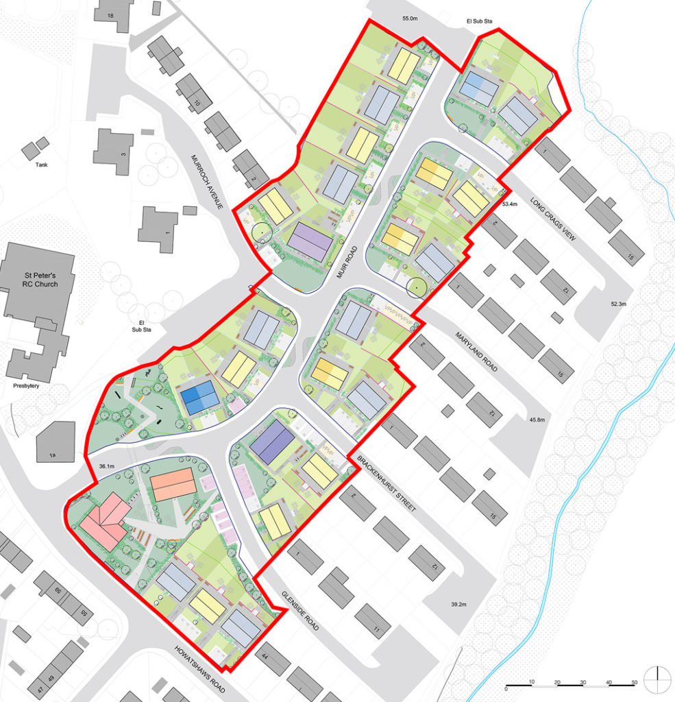 Plan of Muir Road - Phase One of the Bellsmyre Regeneration & Masterplan