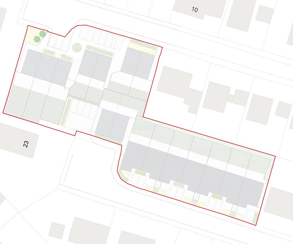 Plan of the Passivhaus homes in Drymen