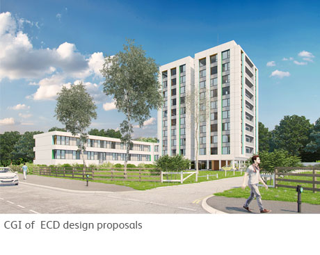 Wellington Close - CGI of ECD cladding proposals