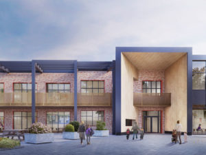 CGI of proposed new Thornhill primary school passivhaus facility to be on site in September