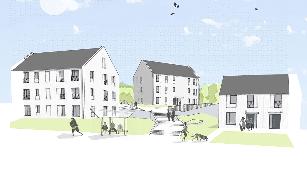 Image of Muir Road - Phase One of the Bellsmyre Regeneration & Masterplan