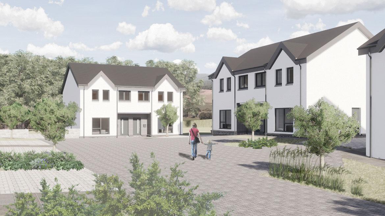 Image of ECD springwell Brae development for Eildon housing Association