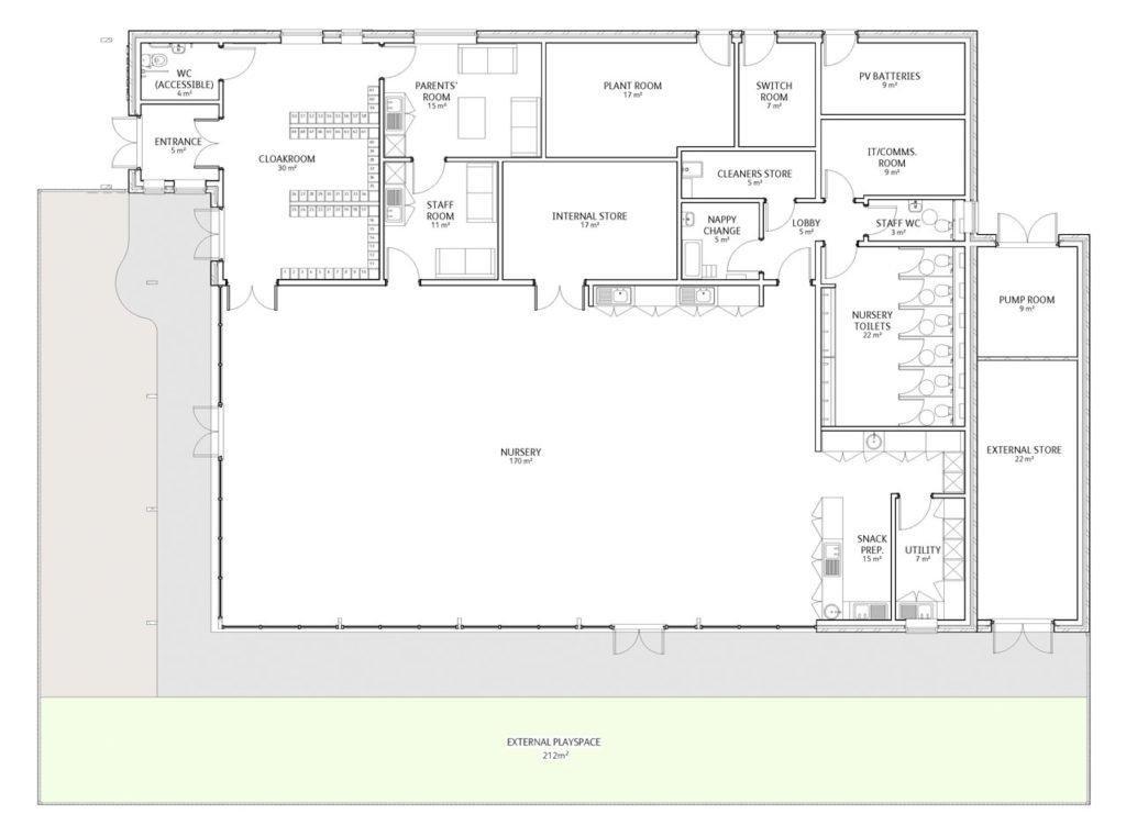 Inchture Nursery School, Perthshire - Floor Plan