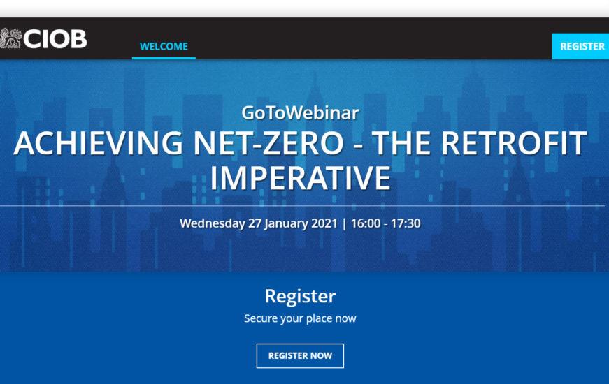 ECD director Alistair Cameron to provide Net-Zero retrofit webinar