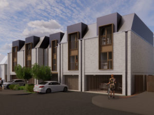 Chequers B new homes as flats and houses on an underutilised garage site