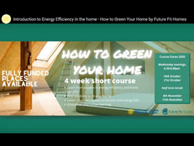 James Traynor How to Green Your Home: Presentation for the South East London Community Energy (SELCE) fully funded 4-week short course on all things energy efficient and retrofit.